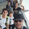 Neymar desembarcou no Brasil no domingo, 21 de dezembro de 2014