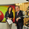 Renata Vasconcellos também comandou o 'Bom Dia Brasil' ao lado de Chico Pinheiro