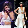 Não é só nos tapetes vermelhos que Selena Gomez usa decote! A cantora também ousa em seus looks de show