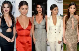 Selena Gomez ousa com looks decotados e com recortes. Veja fotos e inspire-se!