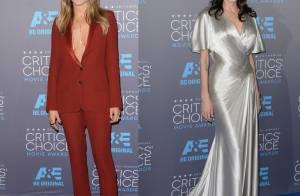Batalha de Looks: Jennifer Aniston e Angelina Jolie se encontram em premiação