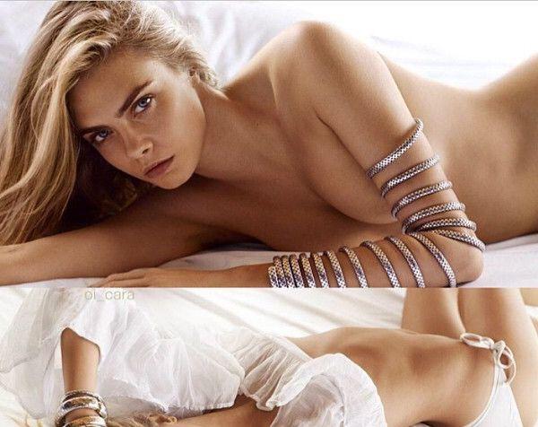 23b57a602813 Cara Delevingne posa de topless para campanha de marca de joias - Purepeople