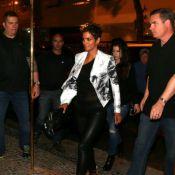 Halle Berry, grávida de seu segundo filho, sai para jantar em restaurante do Rio