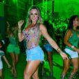 Juju Salimeni também vai desfilar na Mancha Verde, em São Paulo, como musa da escola de samba