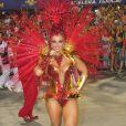 Viviane Araújo será novamente rainha de bateria do Salgueiro, quinta escola de samba a desfilar no primeiro dia do Grupo Especial