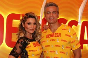 Flávia Alessandra usa look com renda no segundo dia de desfiles no Rio