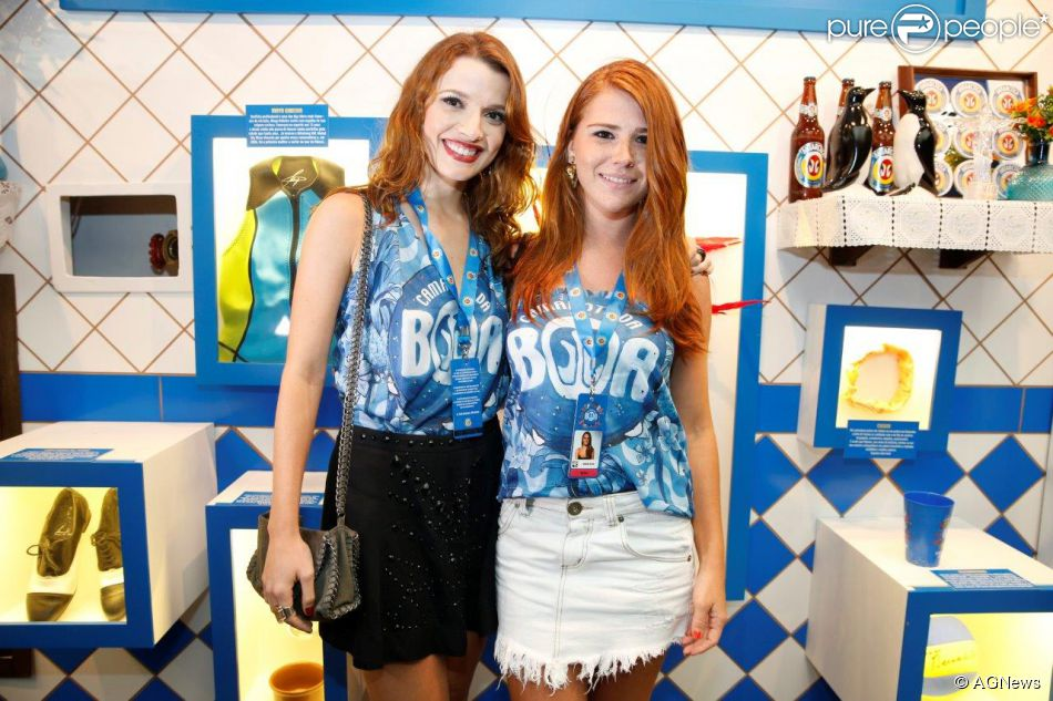 Julia Fajardo e Mariah Rocha no Camarote da Boa, no Rio