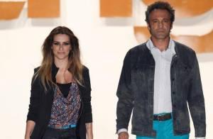 Cleo Pires e Domingos Montagner entram juntos na passarela do Fashion Rio