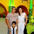 Zeca Pagodinho comemora aniversário do neto Noah com festa no Rio, nesta quinta-feira, 19 de fevereiro de 2015