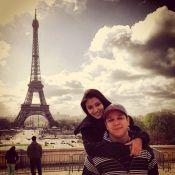 Carolina Oliveira faz passeio romântico na França com o namorado, Felipe Mojave