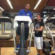 Adriano Imperador está treinando com o preparador físico Marquinhos, que também atua no Flamengo