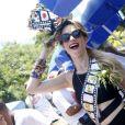 A atriz fechou o Carnaval homenageando a Sétima Arte
