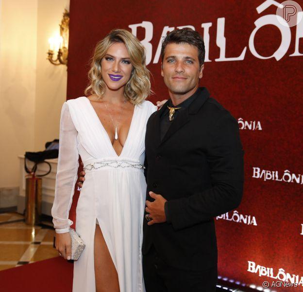 Brunio Gagliasso acabou se desencontrando da mulher, Giovanna Ewbank, na festa de 'Babilônia'