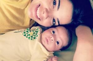 Filha de Vanessa Giácomo, Maria aparece pela primeira vez um mês após nascimento