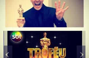 Rodrigo Faro comemora título de melhor apresentador no Troféu Imprensa