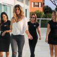 Zilu, Adriana Sorrentino e Karol Veiga têm aula de passarela com Stéphannie Oliveira, filha do ex-jogador Bebeto