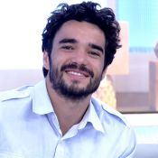 Caio Blat filma com mula em 'Meus Dois Amores' e comenta: 'Deitei de conchinha'