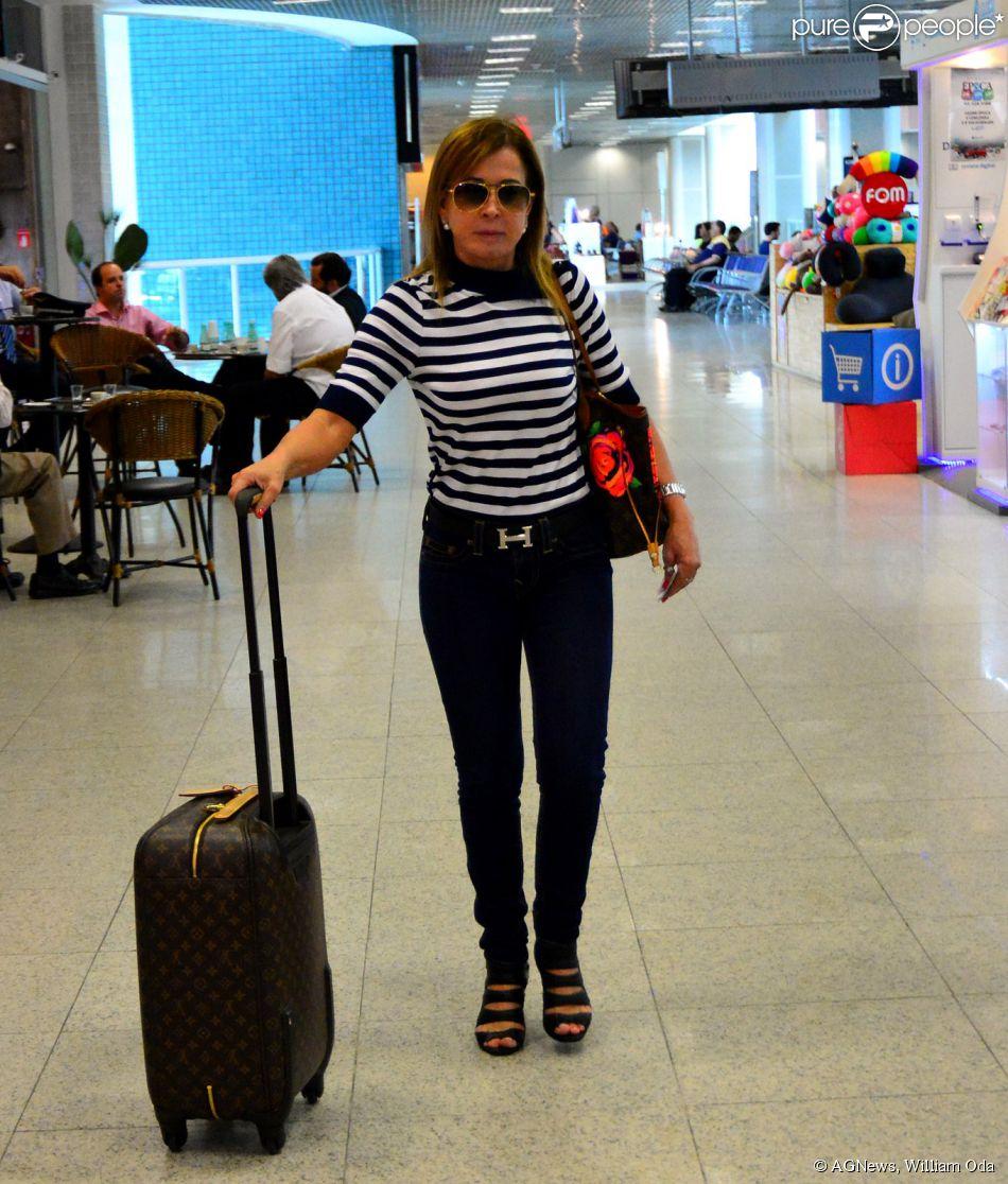 Zilu embarcou no Aeroporto Santos Dumont na tarde desta quinta-feira, 19 de março de 2015
