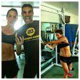 Giovanna Ewbank mostra barriga sarada em treino e personal Chico Salgado posta foto no Instagram, em 3 de maio de 2013