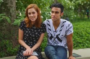 Sophia Abrahão e Sergio Malheiros mostram intimidade em jogo de perguntas