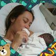 Dani Monteiro deu à luz Bento na última terça-feira, 7 de abril de 2015