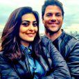 'Com o meu amor no paraíso', escreveu o marido da atriz na legenda da foto compartilhada por ele em rede social