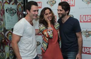 Camila Pitanga vai a pré-estreia de documentário acompanhada do namorado