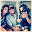 Ticiane Pinheiro, Roberto Justus e Rafaella Justus andam de helicóptero