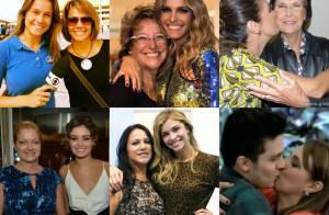 Muito amor! Veja fotos de famosos em momento de carinho com as suas mães