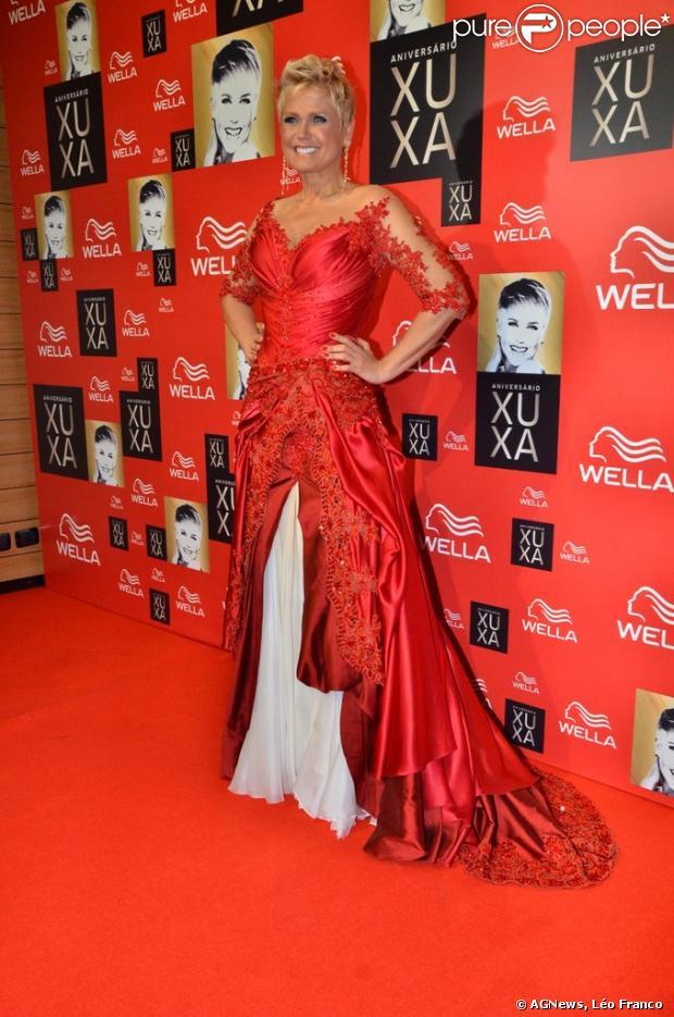 Xuxa comemora os seus 50 anos em São Paulo, em 28 de maio de 2013