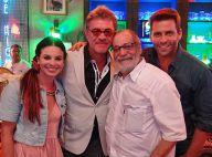 Walther Negrão visita elenco em gravação de 'Flor do Caribe' e elogia cenário