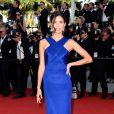 A modelo portuguesa Sara Sampaio no 8º dia do Festival de Cannes, nesta quarta-feira, 20 de maio de 2015