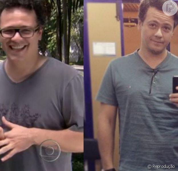 Danton Mello em seu antes e depois após perder 16 kg com algumas restrições alimentares desde que descobriu ser diabético