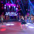 Carol Nakamura dança no 'Domingão do Faustão'
