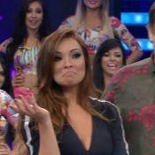 Carol Nakamura desconversa ao rever dança com o ex Sidney Sampaio no 'Domingão'