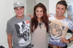Thiago Martins, Paloma Bernardi e Thammy Miranda curtem show de Anitta no Rio