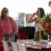 Fernanda Paes Leme, Juliana Knust e Giovanna Lancelotti almoçam em shopping