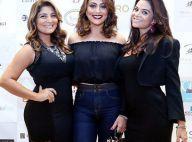 Juliana Paes e suas irmãs promovem evento de beleza em salão da família