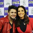 Cristiano Araújo tietou Ivete Sangalo em bastidor de show da cantora