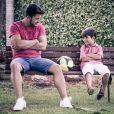 Cristiano Araújo ao lado do filho João Gabriel, de 6 anos
