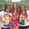 Em encontro com fãs, Marina usou vestido estampado da Animale