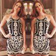 Marina adora vestidos estampados e com detalhes! Nesta foto, ela usa um modelo da marca Bo.Bô