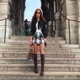 Em recente viagem a Paris, Marina ostentou uma bolsa da grife Goyard, modelo Sac Marquises, que custa em torno de R$ 3.900
