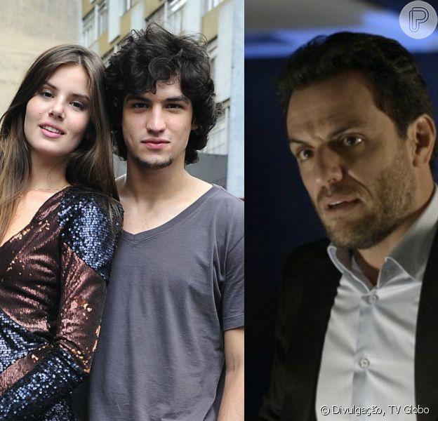 Novela 'Verdades Secretas': Alex (Rodrigo Lombardi) flagra transa de Angel (Camila Queiroz) e Guilherme (Gabriel Leone)