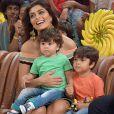 Juliana Paes é mãe de Pedro, de 4 anos, e de Antonio, de 1 ano e 11 meses