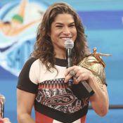 Priscila Fantin e Rodrigo Simas vencem o 'Saltibum' no 'Caldeirão do Huck'