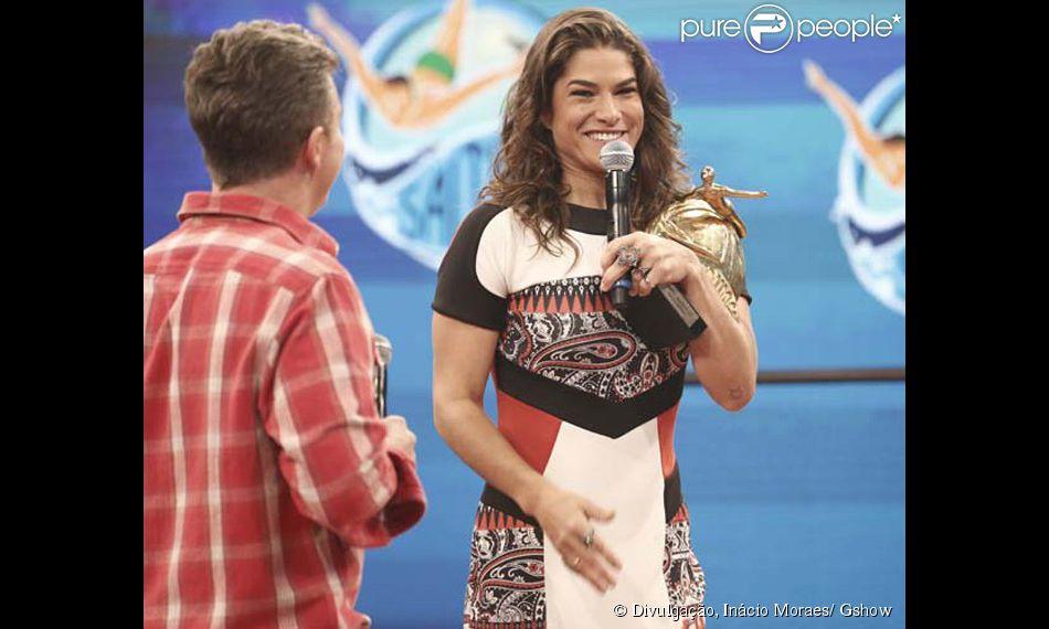 Priscila Fantin liderou a 'Saltibum' desde o início e sagrou-se campeã do quadro do 'Caldeirão do Huck'. A final foi ao ar neste sábado, 27 de junho de 2015