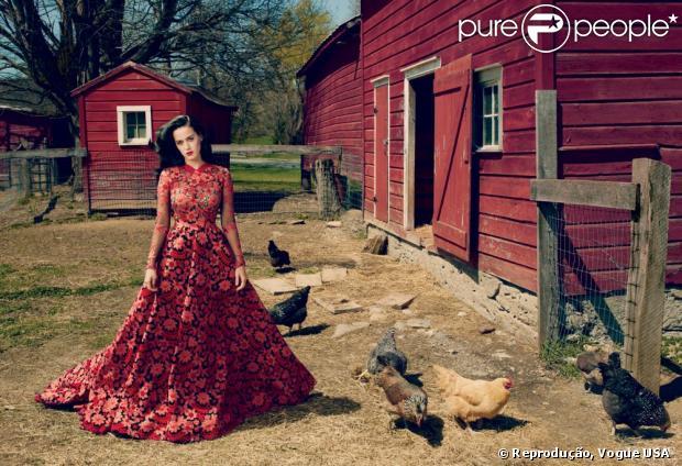 Katy Perry fala abertamente sobre John Mayer e Russel Brand para a Vogue Estados Unidos. Esta é a primeira vez que a cantora estampa a revista