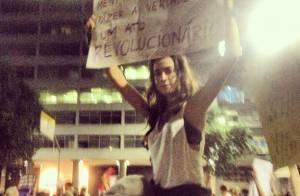 Thaila Ayala fala sobre experiência em protesto no Rio: 'Achei que fosse morrer'