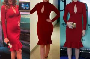 Luciana Gimenez repete vestido usado por Fernanda Rodrigues e Fernanda Keulla